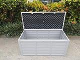 groundlevel.co.uk Boîte de Rangement de Jardin étanche Marron XL