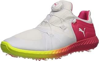 PUMA 女士 Ignite Blaze 运动飞盘式高尔夫鞋 Puma White-puma White-nrgy Rose 7