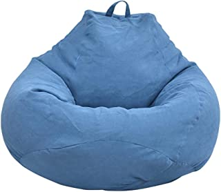 Iraza Puff Funda de Bean Bag,Kit de Sillónes de Hinchables de Adulto Infantil,piel sintetica,Color Gri, para Sala Dormir (Azul-100x120cm)