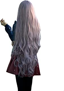S-SSOY Long Curly Cosplay Wigs Halloween Anime Daily Party Wig for Women