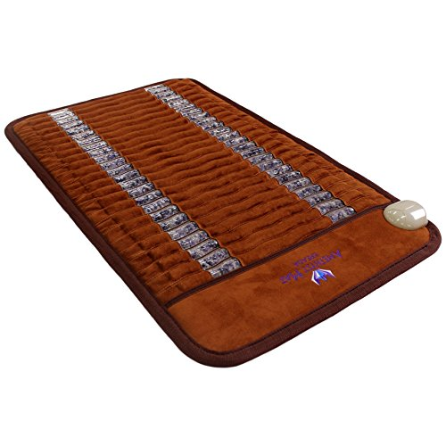 "Ereada Far Infrared Amethyst Mini Mat - 31'L x 20""W - Adjustable 86-158F Deep Impact FIR..."