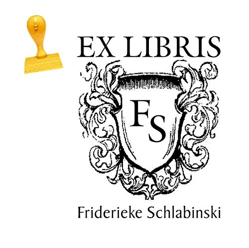 Ex Libris Stempel INITIALEN - Abdruckgröße 40 x 50 mm - mit persönlichem Namen und Initialen