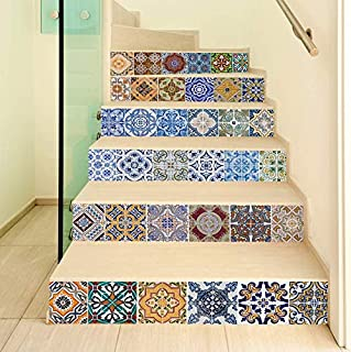 Self-adhesive 3D staircase stickers DIY tiles stickers decorative home waterproof staircase stickers