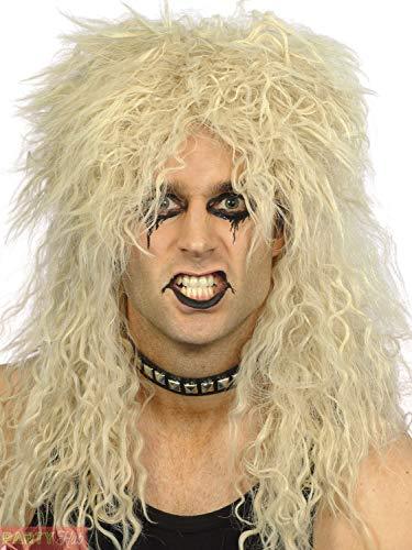 Heren Hard Rocker Pruik Volwassenen Rock N Roll Fancy Jurk Accessoire 80s Pruik Metaal