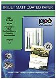 PPD Papel con acabado mate para impresiones de alta resolución de inyección de tinta A3 120 g/m² X 100 hojas PPD-55-100