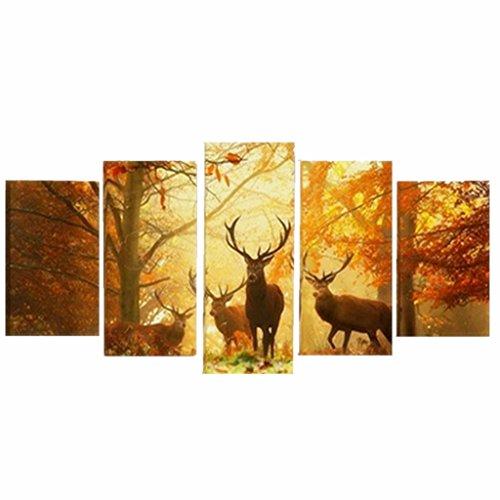 Générique Set de 5pcs Peinture sur Toile Tableau Mural Art...