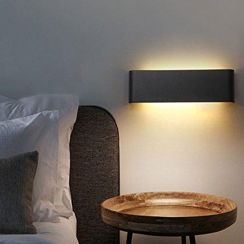 Moderne minimalistische LED aluminium lamp bedlampje wandlamp kamer badkamerspiegel licht direct creatieve gang, zilver, 25 cm, warm wit (2700-3500 k)