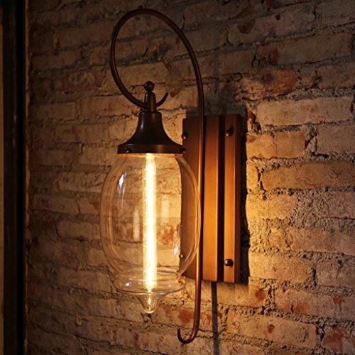 lampe de jardin extérieur aterproof mur américaine lampe rétro éclairage villa grand verre allée balcon