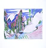 Ernst Ludwig Kirchner Poster Kunstdruck Sertigweg (Tal bei