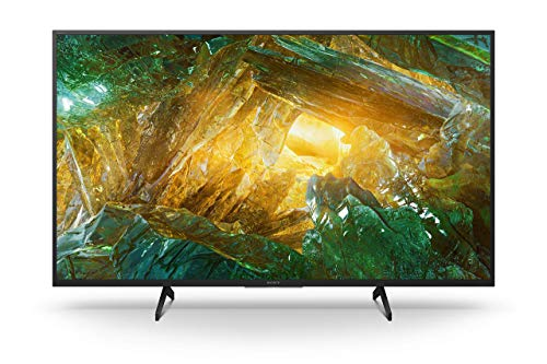 Sony KD-43XH8096 Bravia 108 cm (43 Zoll) Fernseher (Android TV, LED, 4K Ultra HD (UHD), High Dynamic Range (HDR), Smart TV, Sprachfernbedienung, 2020 Modell) Schwarz