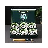 HAOYUXIN Cuenco de arroz de cerámica Panda, Cuenco y Palillos de...