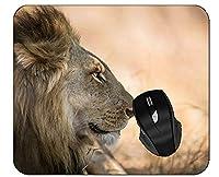 コンピュータのためのオフィスのマウスパッドの大きい猫の野生生物のライオンのマウスパッド