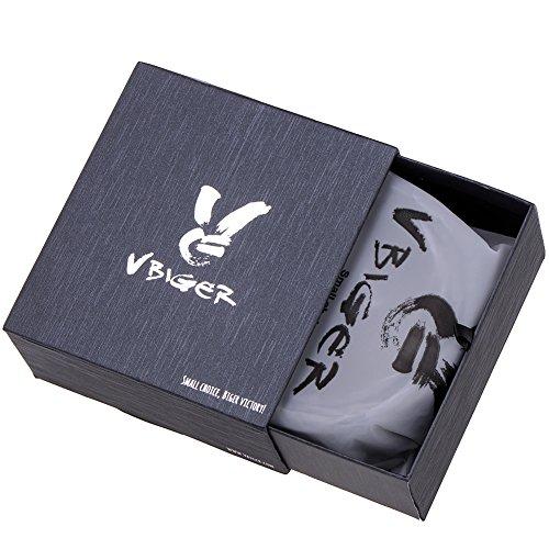Vbiger Men's Leather Belt Sliding Buckle 35mm Ratchet Belt (Black 21) 48″