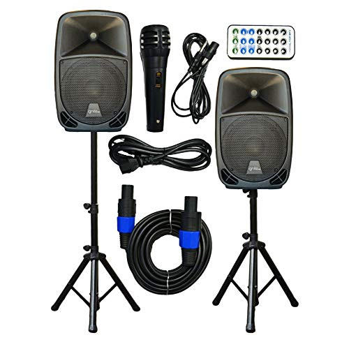 2x Ignite Pro 10' Pro Series Speaker DJ/PA System/Bluetooth Connectivity 2000W (10')