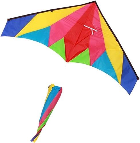 Park Kite, Tragbare Größe Bunte Dreieck Drachen Kind Outdoor Fliegen Spielzeug Brise Einfach Zu Fliegen Kite, 200  90 CM (Größe   200  90CM)