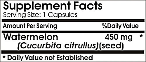 Watermelon Seed 450mg Natural Whole Herb Capsules - Immune System/Blood Enhancer,90 Capsules