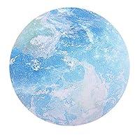RETYLY コンピュータマウスパッド 美しいゲームラウンド地球惑星マウスパッドブルーゴム+布