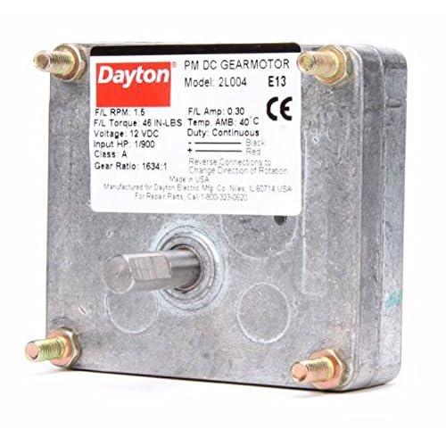 16588bbab4d Dayton DC Parallel Shaft Permanent Magnet Gear Motor 1.5 RPM