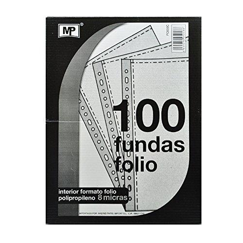 MP - Fundas Multitaladro para Folios, 80 Micras, Tamaño Fº - 100 Unidades