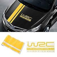 HXKGSMG 1pc 110 * 15cmW-RCストライプレーシングスポーツステッカー4色グラフィックカーフードカバー車外部品用。 にとってデカール (Yellow)