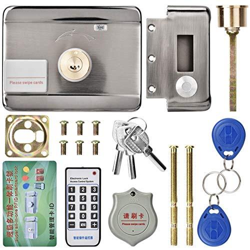 Yeelur Cerradura de Puerta electrónica, Cerradura de Puerta Inteligente, Tarjeta de identificación del Sistema de Acceso Inteligente Digital de Doble Cabezal para almacenes, hoteles, hogares,