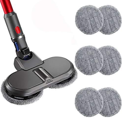 Sconosciuto Duraturo Accessori Aspirapolvere Sostituzione Wet Dry Mop Testa con 6 Pezzi di Pulizia Mop Panno per Dyson V7 V8 V10 V11