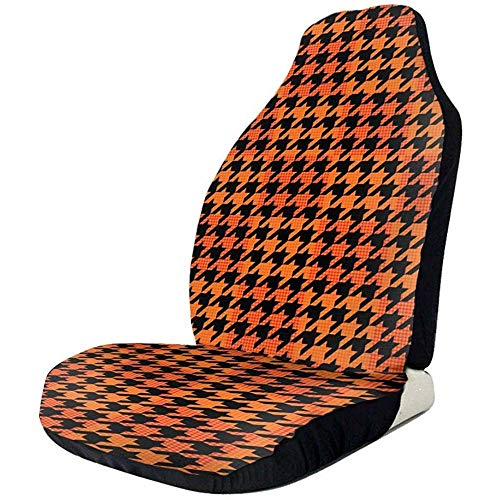 KDU Fashion Auto Seat Cover stoelhoezen voor bestuurdersstoel comfort houndstooth voor vrachtwagens 2 stuks/set