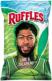 Ruffles Lime & Jalapeño Flavored Potato Chips, 8.5 Oz (2 Bags)