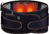 LHFD Cinturón de Cintura calefactable, Terapia de Calentamiento Masaje Vibratorio Térmica de Cinturón con Espalda Terapia Ajuste del Tercer Engranaje,Espalda es Ideal para aliviar los cólicos.