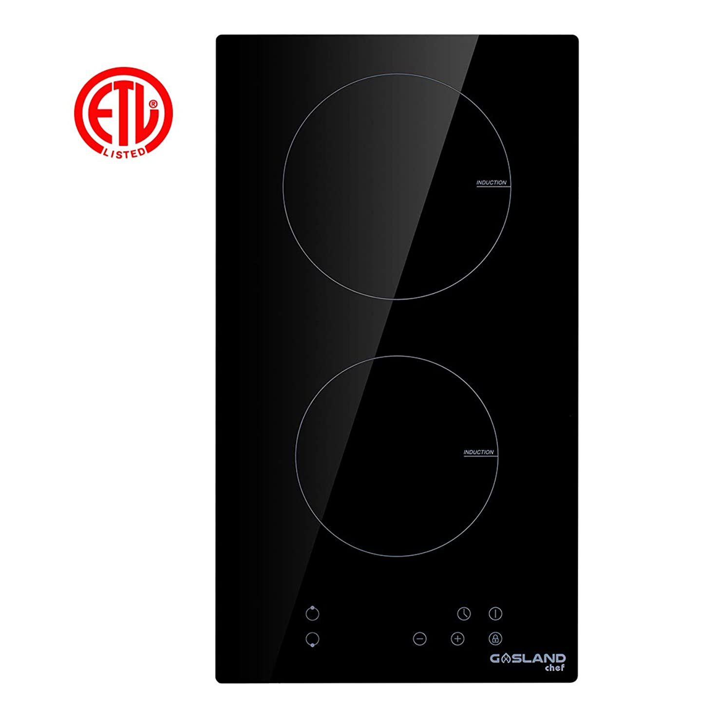 Induction Cooktop, Gasland chef IH30BF Built-in Induction Cooker, Vitro Ceramic Surface Electric Cooktop, 12'' Electric Stove With 2 Burners, ETL Safety Certified, Kids Safety Lock & Easy To Clean gdivehpwbcqfa1
