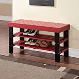 ACME Furniture  Ramzi Bench, Red