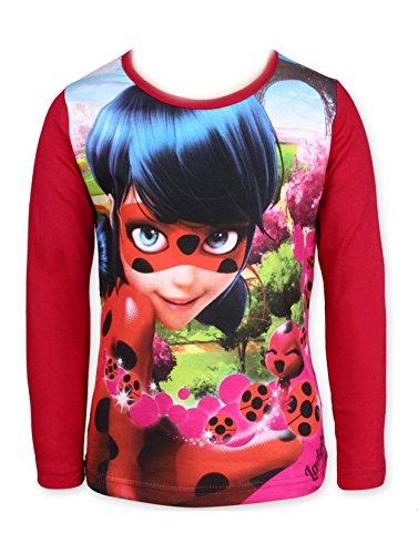 Miraculous Ladybug - Camiseta de Manga Larga - para niña Rojo Rosso 32