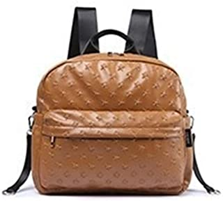 Redland Art Baby Bag For Mother Waterproof Large Capacity Stroller Bags For Baby Care 3D Stars Brown Diaper Bags Backpack Fashion Nappy Bag (Color : Brown)