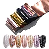1 caja de diseño de mármol lámina metálica para deslizador de uñas holográfica transferencia envoltura pegatina manicuras decoración uñas accesorio-patrón-23-