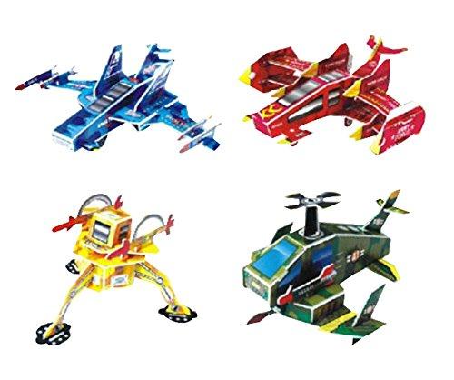 Black Temptation Ensemble de 4 Creative 3D Avion Puzzle Jouets éducatifs Assemblage Puzzles