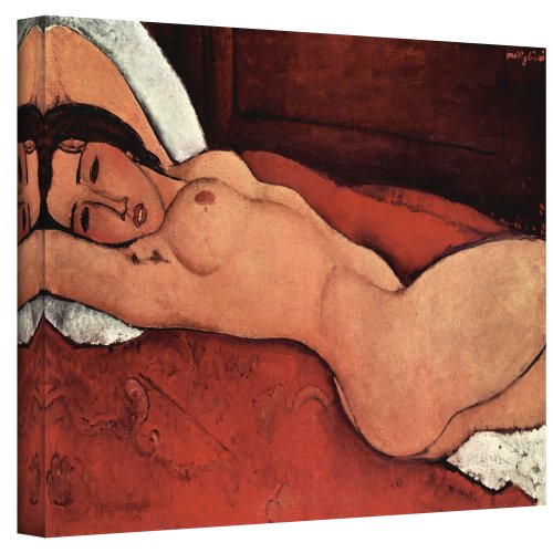 ArtWall Portrait of a Nude Gallery Wrapped Canvas Art by Amedeo Modigliani, 14 by 24-Inch