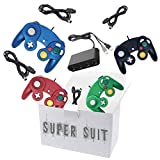 4 Controllers for Gamecube,with 4 Extension Cables and 4-Port USB Adapter for Switch PC Wii U Console (BBRG)