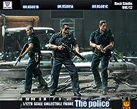 R堂 フィギュア 素体 セット 1/12 男性 rocktoys 素体 ヘッド 服 武器 道具 シティ 警察 銃 映画 マンガ