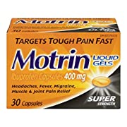 Motrin 400 mg tablets, super strength, 16 Count
