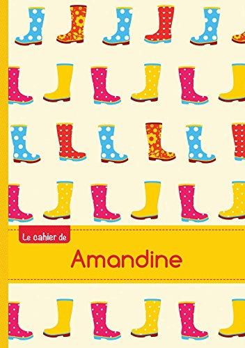 Le cahier d'Amandine - Petits carreaux, 96p, A5 - Bottes de pluie