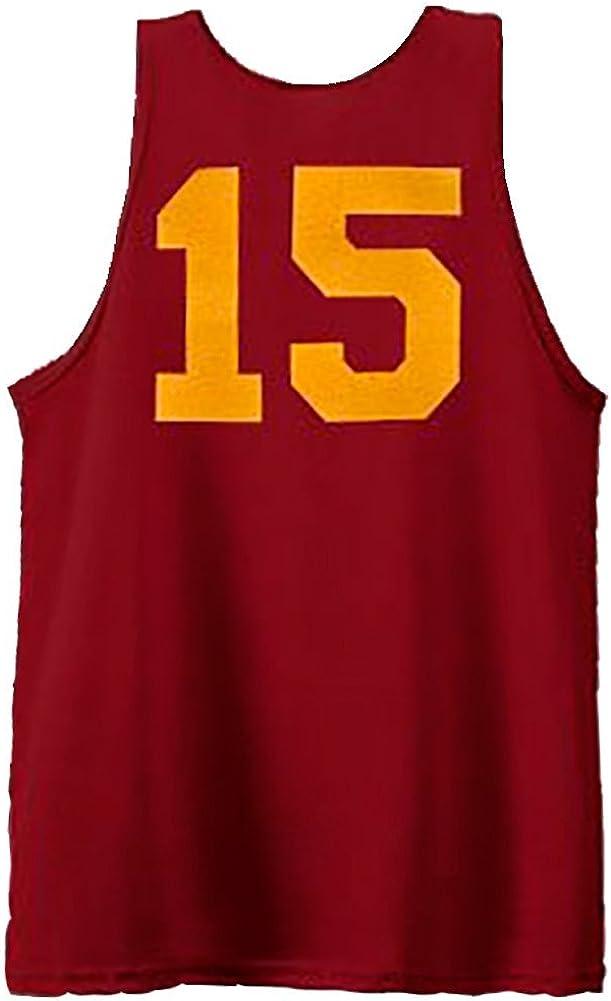 Hoosiers Hickory High School 15 Basketball Kost/üm Burgundy Jersey Tank Top