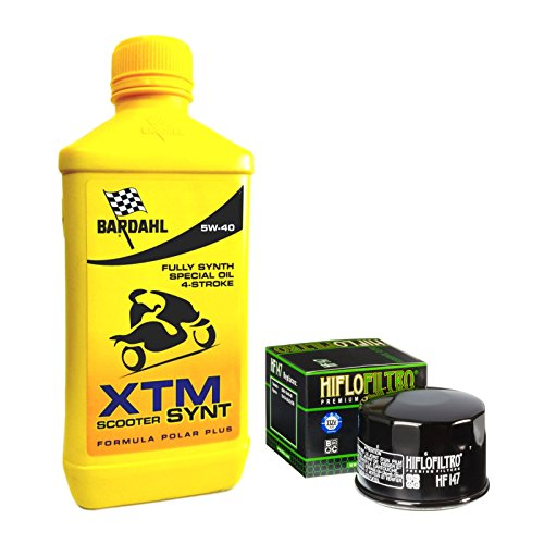 Tecneco Kit Bardahl XTM Scooter Synt 5 W40 Filtre à huile pour kymco xciting 500/rI