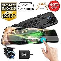 Vvcar 1080p Mirror Dash Cam with 12