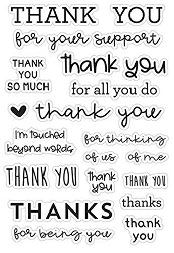 WooYangFun Craft 1pcs Thank You for All You do Clear Stamp for Card Making Decoration and Scrapbooking 11x16cm