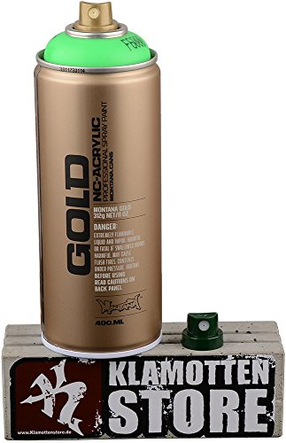 Sprühdosen Montana Gold fluoreszierende Neonfarben (E - Neon Grün)