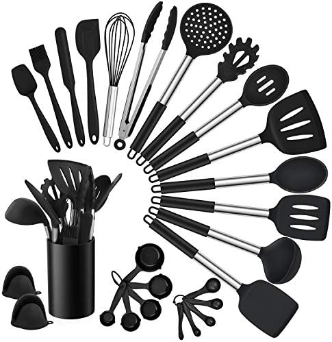 Homikit 27 Pieces Silicone Cooking Utensils Set with Holder Kitchen Utensil Sets for Nonstick product image