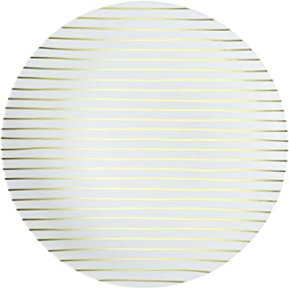 L'entramise Premium Disposable Salad and Dessert Plates, 8 in, 8 Pack 8 inches Gold