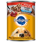 PEDIGREE CHOPPED Adult Wet Dog Food, Ground Dinner Beef, 375g (12 Pack)