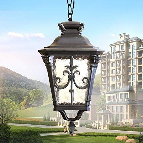 DLILI American Industrial Retro Lámcolgante luz E27 Decoración Accesorio iluminación jardín Balcón Pasillo Pasillo Porche Lámiluminación
