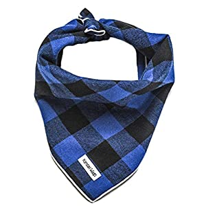 Buffalo Plaid Dog Bandana – Dog Scarf Pet Accessories for Dogs, Cats, and Puppies Large Medium Small